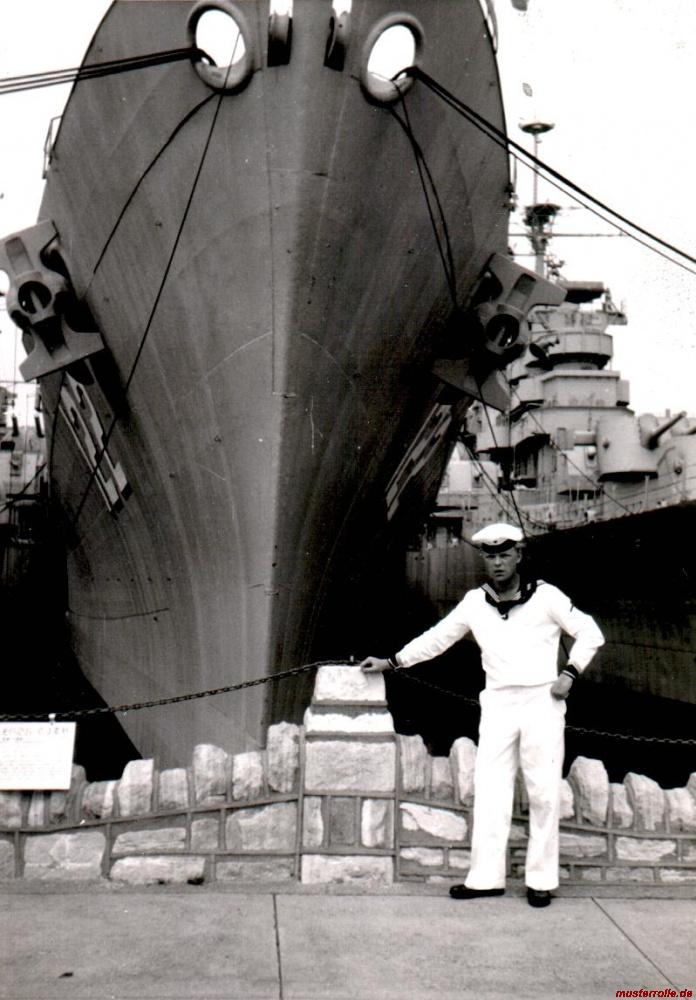 Dieter bei der Bundesmarine
